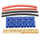 5 Pairs EC3 Connectors Lipo Battery Connector & Heat Shrink
