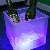 LED Ice Bucket Double RGB Color Layer Square Bar KTV Ice Ice Bucket