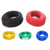 10м Soft Силиконовый Провод 22AWG Термостойкий внешний диаметр 1,7 мм Гибкий кабель Черный / Белый / Красный / Зеленый / Синий Модель RC