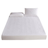 Waterproof Bamboo Jacquard Mattress Topper Protector Cover Pad Hypoallergenic Bedding Set