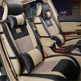 10pcs voiture PU en cuir avant siège arrière Housses de coussin de voiture universel pour 5 sièges de voiture