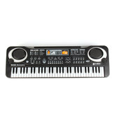Standard 61 Keys  Children Electronic Piano Keyboard with External Speaker Microphone Supports Singing Following Teaching