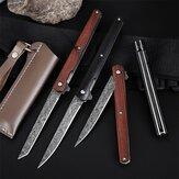 204 مللي متر M390 غير القابل للصدأ شفرة فولاذية سكين للفرد مع حافظة جلدية جيب مقبض خشب الصندل للبقاء التخييم أدوات سكين صيد