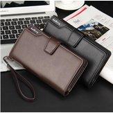 Baellerry hombres de negocios de cuero de largo cartera de embrague bolso id de la tarjeta de crédito sim titular de la tarjeta iPhone Samsung