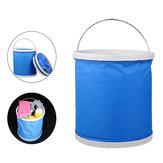 11L Oxford Portable Bucket Opvouwbare Multifunctionele Outdoor Wandelen Camping Vissen Auto Wassen Vouwen Emmer Basin