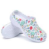AtreGo Printing Scrub Sabots Chaussures chirurgicales antidérapantes Chaussures de chef Pantoufles d'allaitement pour femmes
