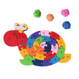 26Pcs Multicolor Letter Children's Educational Building Blocks Snail Toy Puzzle For Children Gift