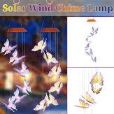 Energía solar LED Carillón de viento Luz colgante Patio que cambia de color Mariposa de jardín Lámpara Decoración