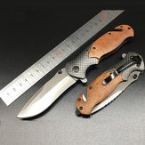 X50 205mm Stainless Steel EDC Folding Blade Outdoor Survival Tools Kit Sports Hiking Climbing Cutter Tool