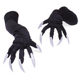 Longs ongles Gants Halloween Cosplay Props Costumes Manches Main Patte Performance Menottes
