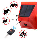 -N911C Солнечная Сигнальная лампа IP65 Водонепроницаемы Дистанционное Управление Защита от животных Flash Сигнальная лампа безопасности