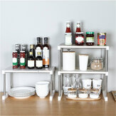 1/2 Layer Multi-function Storage Rack Kitchen Shelf Household Bathroom Bedroom Organizer Stand