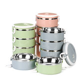 1~4 Layers Lunch Box Portable Stainless Steel Thermal Insulated Meal Per Food Container Kitchen Lunchboox For Kids Children Adult