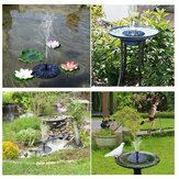 Outdoor LED Solar Powered Bird Bath Fountain Water Pump Para Piscina Garden Aquarium