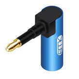 Adaptateur de câble audio optique EMK 3,5 mm 3,5 mini connecteur optique vers SPDIF numérique Toslink 90 degrés adaptateur à angle droit pour haut-parleur Sounbar