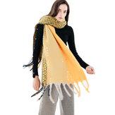 Écharpe artificielle en cachemire vintage pour femmes de 190 * 56 cm