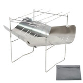 Stainless Steel Fire Stove Outdoor Camping Heating BBQ Cooking Bonfire Campfire