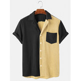 Banggood Designed Mens Loose Corduroy Button Down Patchwork Pocket Breathable Casual Shirts