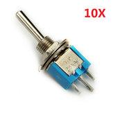 2 pinos mini-alternância Rocker Switch 10pcs 6A wendao SMTS-102 em / sobre 125V ac