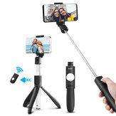 ELEGIANT Uzatılabilir 2 in 1 bluetooth Uzakdan Kumanda Selfie Çubuk Mini Tripod Ayarlanabilir Telefon Tutucu ile