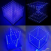 Geekcreit® 8x8x8 LED Cube 3D Light Square Blue LED Flash Elektroniczny zestaw DIY
