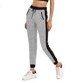 SUNNYME Women's Pants Jogging Track suits Gym Sports Pants Yoga Waist Top Pocket