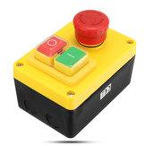 230V 19A Comutador de paragem do motor NVR e interruptor de parada de emergência 5 pinos para moagem do torno Broca
