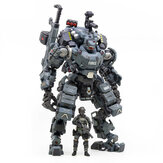 JOYTOY Action Figure Multi-joint Rotatable Steel Bone Attack Mecha Police Grey Figure New Toy for Collectible Toys