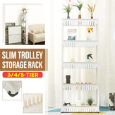 3/4/5-Tier Slim Slide Out Trolley Storage Holder Rack Organizer Dapur Kamar Mandi