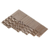 Drillpro 50pcs 1 / 1.5 / 2 / 2.5 / 3mm HSS M35 Cobalt Twist Foret