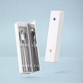 HUOHOU IPX6 À Prova D 'Água Recarga USB Auto-Detecção Desinfecção Talheres Portáteis Caixa de Xiiaomi
