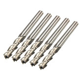 5pcs 6mm x 6mm 3 flauto HSS End Mill Cutter