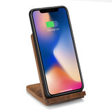 INSMA 15W Wooden Qi Wireless Charger Type-C Fast Charging Phone Holder for Samsung S20 for iphone 11 Pro XR XS Max