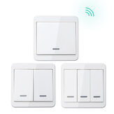 KTNNKG 433MHz Universal Wireless Remote Control 86 Wall Panel RF Transmitter With 1 2 3 Buttons