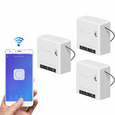 3pcs SONOFF Mini Smart Switch bidirezionale 10A AC100-240V Funziona con Amazon Alexa Assistente Home Google Nest Supporta la modalità DIY Permette di Flash il firmware