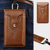 Men Faux Leather Phone Bag Waist Bag