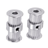 5mm/8mm 20Teeth Bore 2GT Double-head Conjoined Synchronous Wheel Timing Pulley