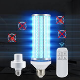 E27 60W 195LED UVC Bulb Household UV Germicidal Lamp Disinfection Indoor Light With Lampholder Remote Control