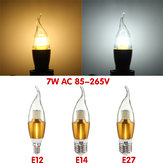 E27 E12 E14 470LM 7W SMD 3014 LED Golden Warm Weiß Weiß Candle-Light-Lampe nicht dimmbar AC 85-265V