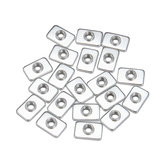 Machifit 20pcs M3 Steel Zinc Plated Tee Nuts for 2020 V-slot Aluminum Profiles Extrusions