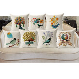Honana45x45cmHomeDekorationBlumeund Vogel 7 Optional Muster Baumwolle Leinen Kissenbezüge Sofa Kissenbezug