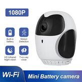Bakeey Smart Wireless 360-градусное домашнее наблюдение камера 4-кратное увеличение HD Ночное видение, двустороннее аудио, малый размер камера