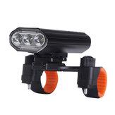 XANES® 3xT6 Genopladelig Cykellamp Superlys IPX6 Vandtæt LED Cykel Forlygte 5 tilstande Cykel Frontlys Cykling Fiskeri