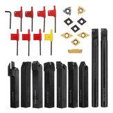 Conjunto de suporte de ferramenta para torneamento de barra de mandrilar Drillpro 9pcs 16mm haste de 16mm com inserções de carboneto