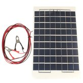 12V 10W 38 X 22 CM PolyCrystalline Transparent Epoxy Resin Solar Panel With Alligator Clip Wire