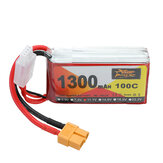 ZOP Power 11.1V 1300mAh 100C 3S Lipo Batterie XT60 Plug pour RC Racing Drone
