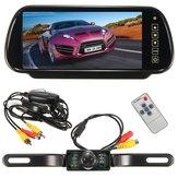 Wireless 7inch Monitor LCD a specchio + retrovisione dell'automobile ir corredo di sostegno telecamera per la retromarcia
