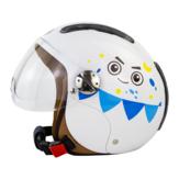SOMAN SM306 enfants casque voiture électrique respirant écran solaire Scooter Moto casques enfant chapeau de sécurité avec lentille amovible