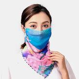 Máscaras de impressão montadas na orelha do verão Proteção para o pescoço Protetor solar Lenço xale Bandana anti-UV