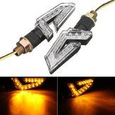 Pair 12V LED Turn Signal Indicator Lights Running Lamp Blinker Universal Motorcycle